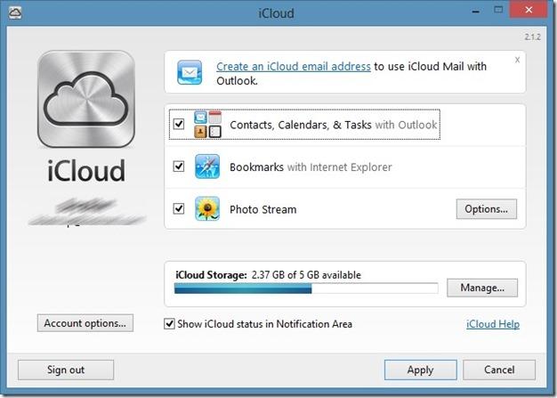 use icloud on Windows step4