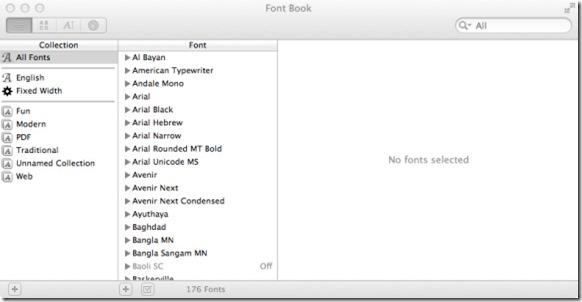 Google Font On Mac