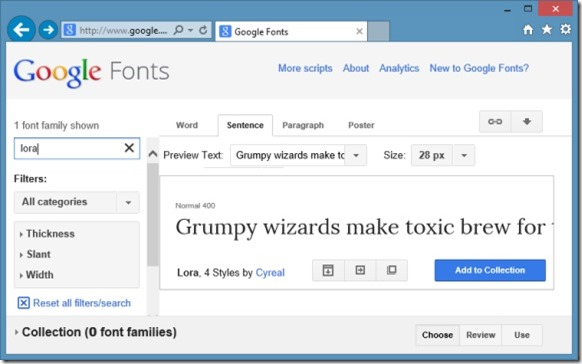 Install Google Web Fonts in Windows Picture1