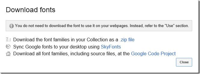 Install Google Web Fonts in Windows Picture3