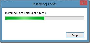 Install Google Web Fonts in Windows Picture5