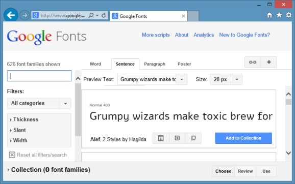 how to add google font to php