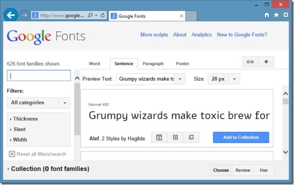 Install Google Web Fonts in Windows