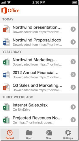 Microsoft Office for Apple iPhone