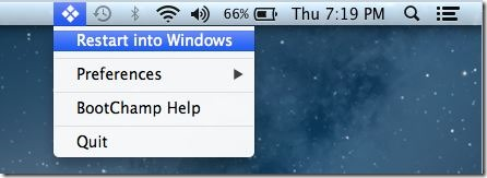 Restart Into Windows Quickly From Mac OS X