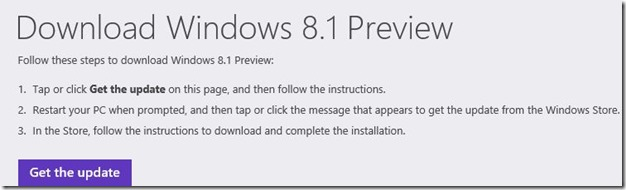 Upgrade Windows 8 to Windows 8.1 Preview Step01