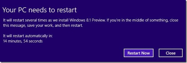 Upgrade Windows 8 to Windows 8.1 Preview Step14