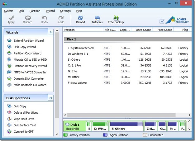 AOMEI Partition Assistant Pro Edition Free Picture2