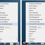 How To Add Command Prompt Option To Win+X Power User Menu In Windows 8.1