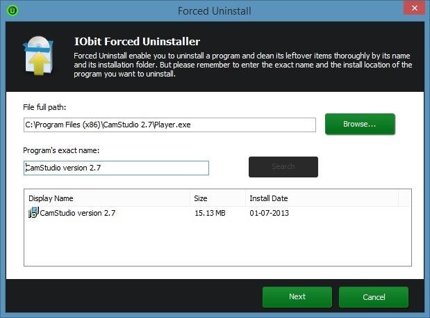 how to delete stubborn iobit files