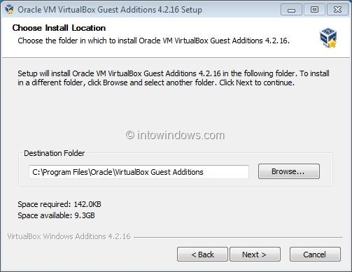 Enable Windows 7 Aero In VirtualBox Step2