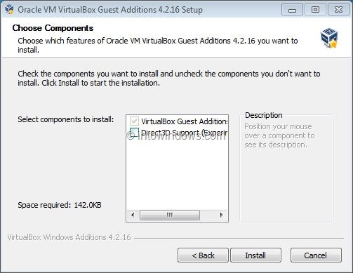 Enable Windows 7 Aero In VirtualBox Step3