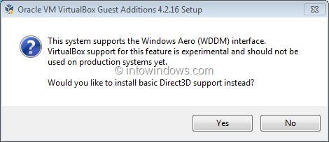 Enable Windows 7 Aero In VirtualBox Step4