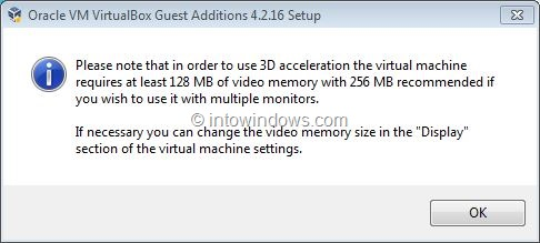 Enable Windows 7 Aero In VirtualBox Step5