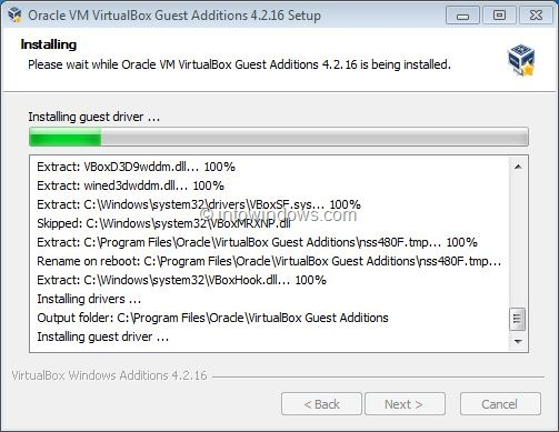 Enable Windows 7 Aero In VirtualBox Step6