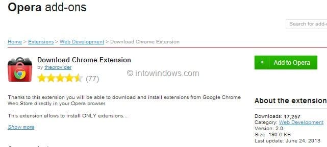 How To Install Google Chrome Extensions In Opera Browser pic2