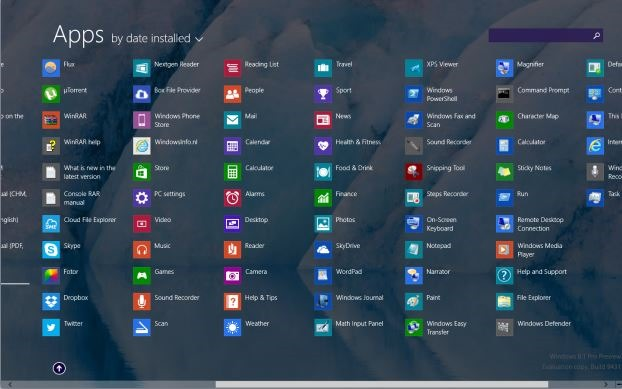 pin apps to start screen Windows 8.1