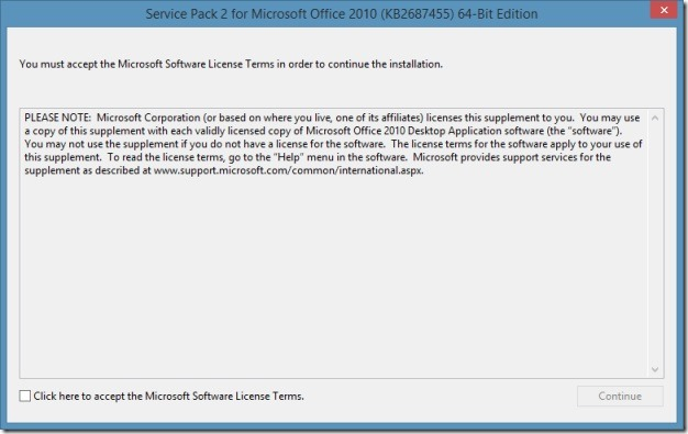 Service Pack 2 for Office 2010