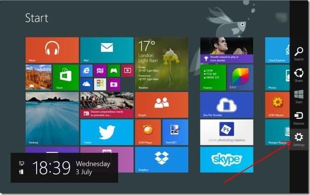 Set desktop background wallpaper as Start screen background Windows 81 Step4
