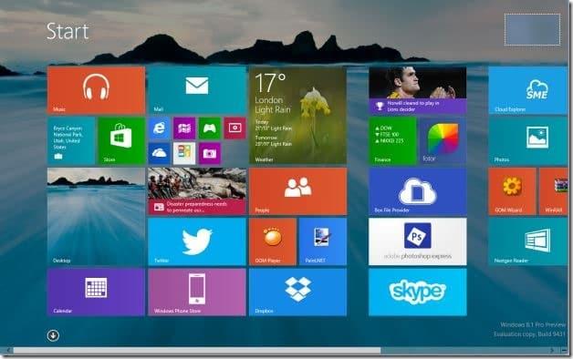Set desktop background wallpaper as Start screen background Windows 81
