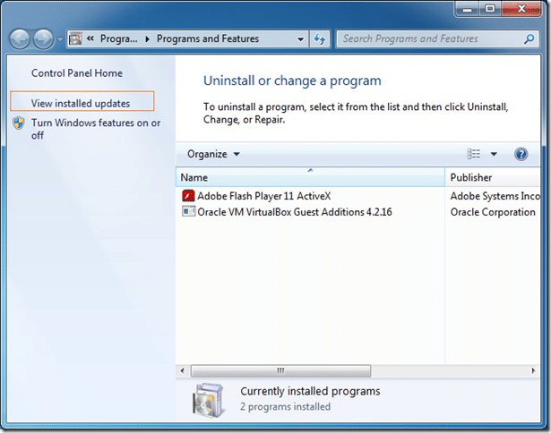 Uninstall Internet Explorer IE from Windows 7 Picture2