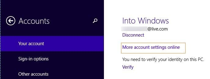 how to change account name on windows 8 start screen