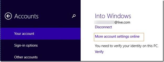 rename Microsoft Account Name on Start screen Step2