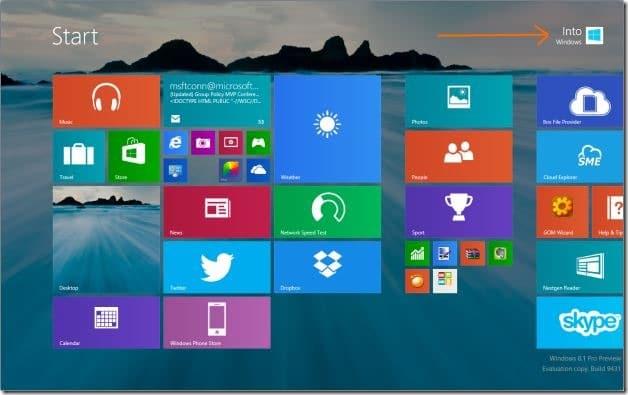 rename Microsoft Account Name on Start screen Step