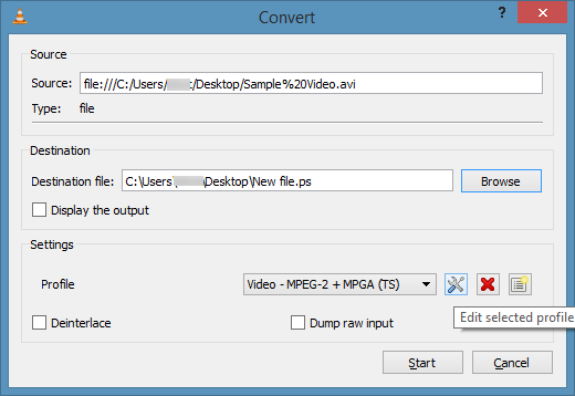 Convert Video Using VLC Media Player Picture5