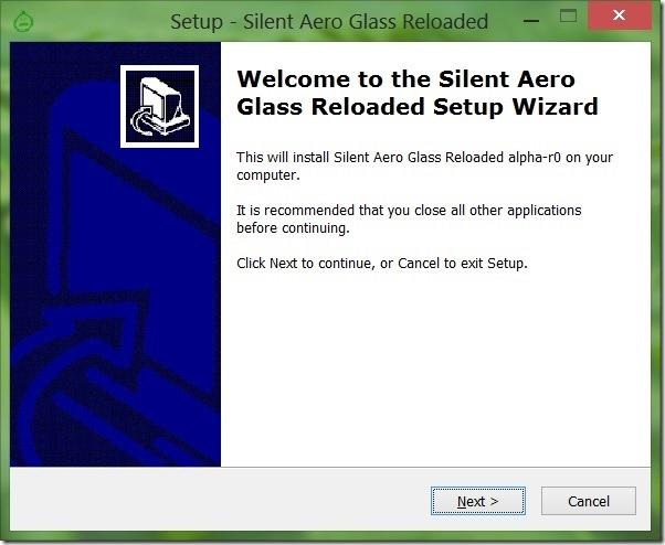 Disable Aero Glass for Windows 8 Demo warning