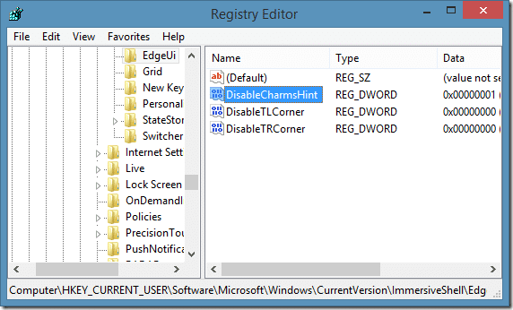 Disable Sidebar In Windows 8.1 Step6