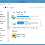 How To Hide Macintosh HD In Windows