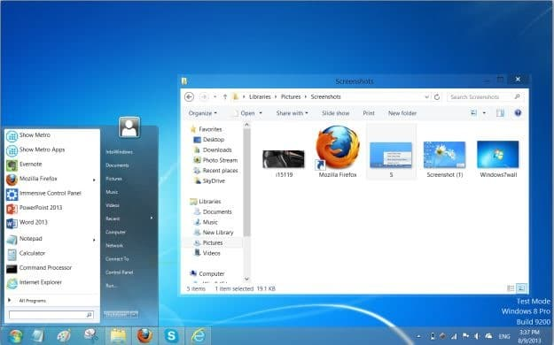 Make Windows 8 look like Windows 7 Picture