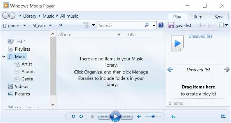 Make Windows Media Player default On Windows 10