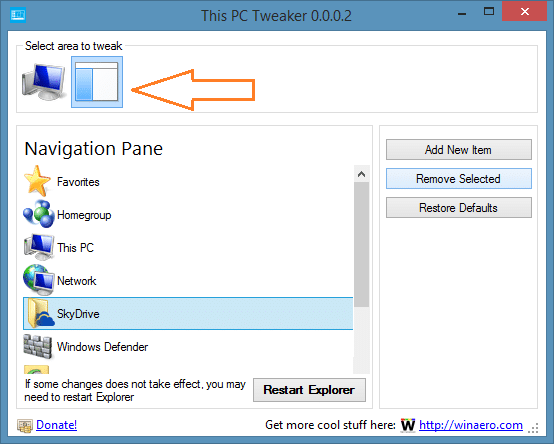 Remove SkyDrive folder from Windows 8.1 Explorer Picture2