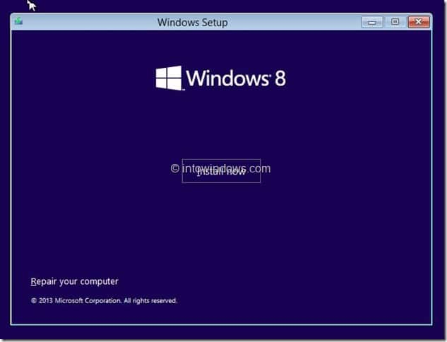 Restore Windows 8.1 Image Step1