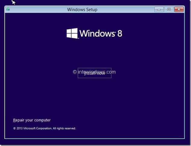 Restore Windows 8.1 Image Step1