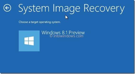 Restore Windows 8.1 Image Step23