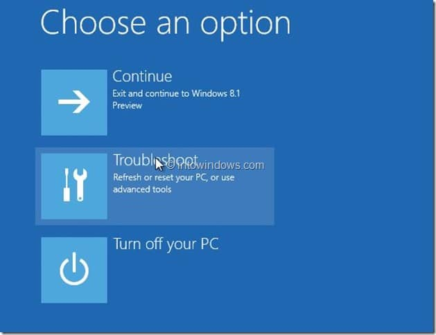 Restore Windows 8.1 Image Step2