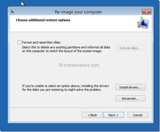 Restore Windows 8.1 Image Step5