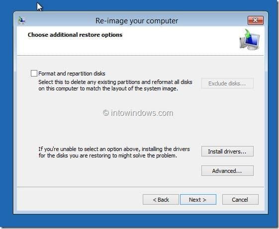 Restore Windows 8.1 Image Step5