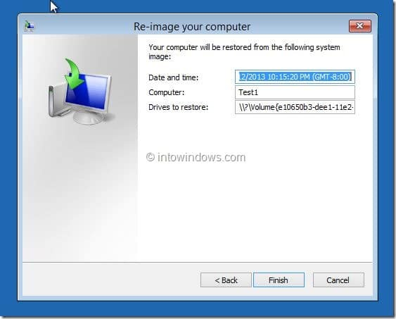 Restore Windows 8.1 Image Step6