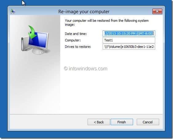 Restore Windows 8.1 Image Step6
