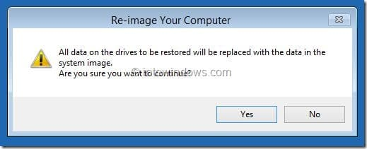 Restore Windows 8.1 Image Step7
