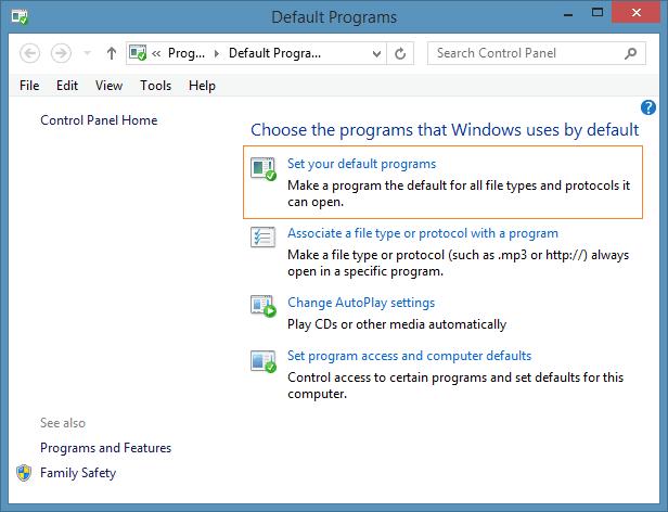 Set Windows Media Player as Default Audio Player in Windows 8.1 Step2