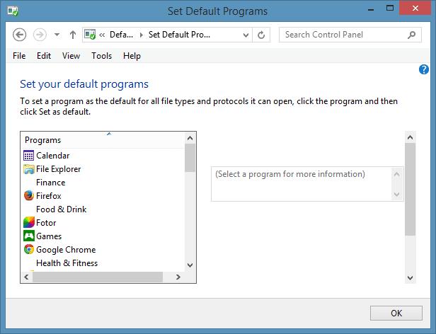 Set Windows Media Player as Default Audio Player in Windows 8.1 Step33