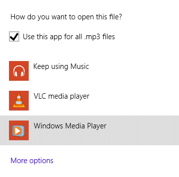 Set Windows Media Player as Default Audio Player in Windows 8.1 Step7