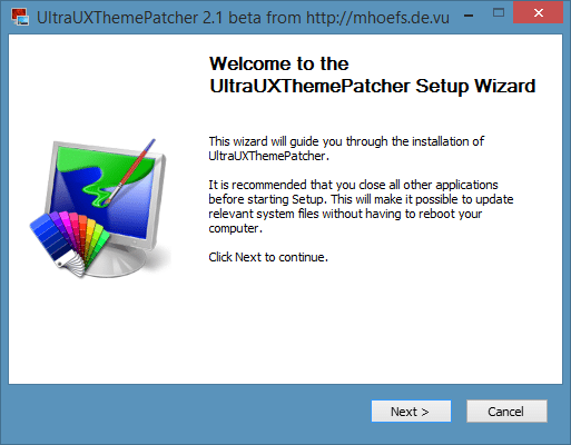 UltraUXThemePatcher for Windows 8.1