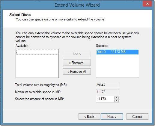 increase virtualbox disk size in Windows Step5