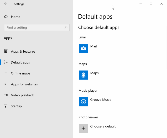 set windows media player as default in Windows 10 pic1